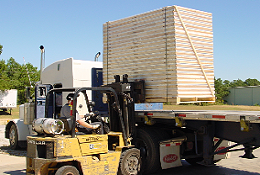 Greenix Panels Wood SIPs loading for delivery